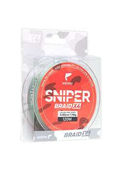 Шнур Salmo SNIPER BRAID X4 ARMY GREEN  120/0,165